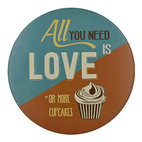 ErYao Indoor Outdoor Wall Decor Welcome Vintage Metal Sign Retro Metal Poster Home Decor Flag Plaque for Bar Club Cafe Garage (All You Need is Love Or More Cupcakes) (Bar And Outdoors Cafe)