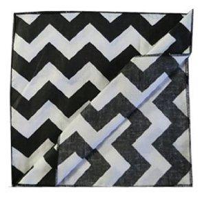 Elegant ArtOFabric Decorative Cotton Tablecloth In Black And White Chevron Print  59x72u0026quot;