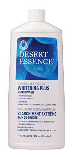 (Desert Essence Mouthwash, Tea Tree Whitening Mint, 16 Fluid Ounce)