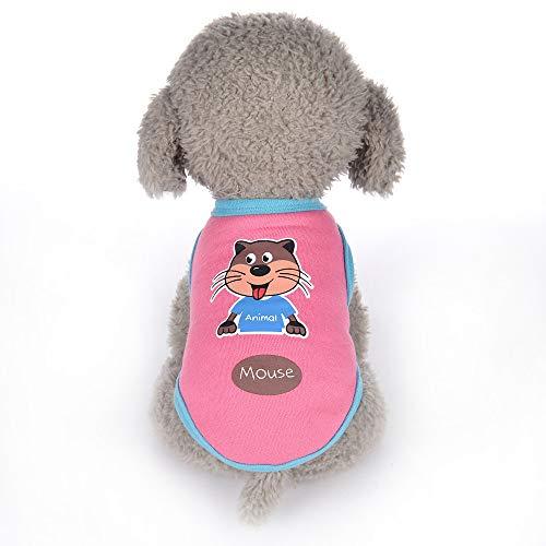 Gogoodgo Pet Shirts Super Cute Puppy T Shirt Printed Dogs Summer Vest Costumes Cat Tank Top