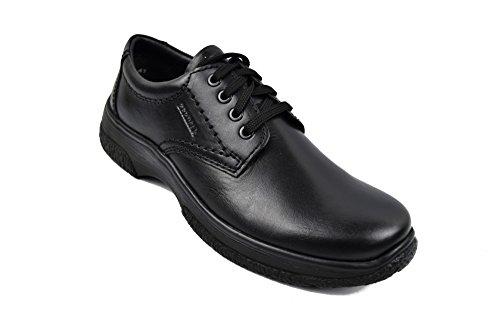 para Zapatos hombre Negro casuales hombre cuero Calzado trabajo hombre para de de Zapatos de vestir de Zerimar Zapatos 7PUTd7