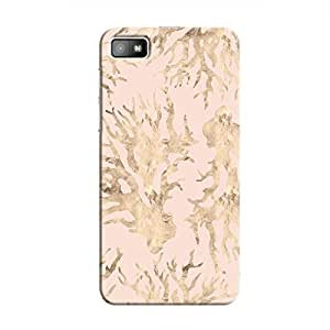 Cover It Up - Pink Pastel Nature Print BlackBerry Z10 Hard Case