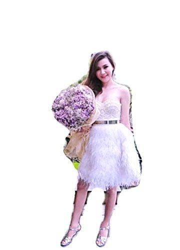 S.G.instar Rachael ostrich feathers skirt Wedding skirt bride maid skirt by S.G.instar