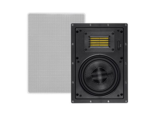 Monoprice Amber In-Wall Speakers 6.5-inch 2-way Carbon Fiber with Ribbon Tweeter (pair) by Monoprice