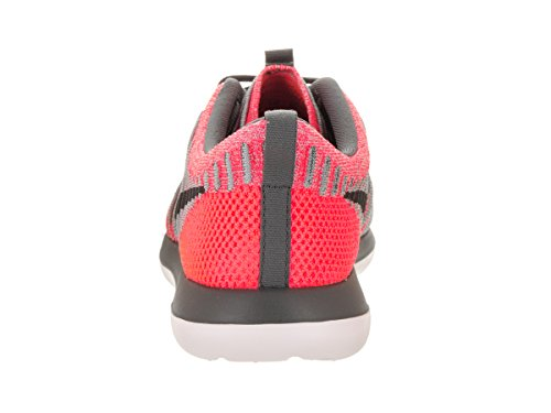 Nike Kids Roshe Due Flyknit (gs) Scarpe Da Corsa Hot Punch / Grigio Lupo Grigio Scuro