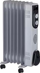 Jata R107 Radiador de aceite con 7 elementos caloríficos 1500 W, Blanco