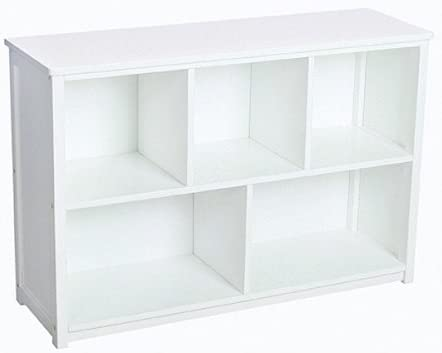 Guidecraft Classic White Bookshelf Children s 5 Compartment Toy