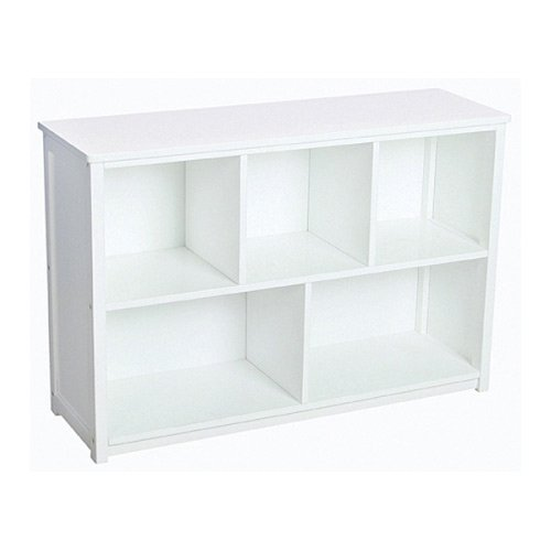 Amazon Guidecraft Classic White Bookshelf Classroom Book Rack Storage Multi Section Toys Bins Cubby