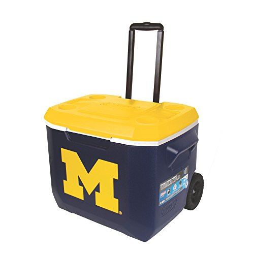 NCAA Michigan Unisex 60QT. Roll Coolermichigan, Blue/Yellow, One ()