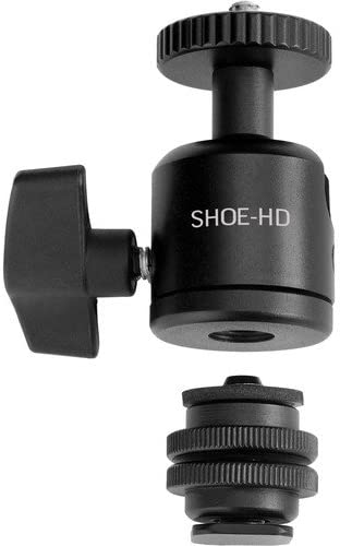 6 Pack Elvid Heavy Duty Camera Shoe Mount Adapter with Ball Head for Monitors