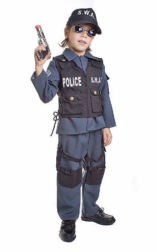 [Deluxe Childrens S.W.A.T. Police Officer Costume Set - Medium] (Swat Vest Costume)