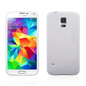TPU S Shell Comfortable Protective Back Case Cover for Samsung Galaxy S5 i9600 (White)