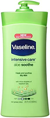 Vaseline Intensive Care Aloe Soothe Lotion 20.3 Oz (pack of 2)