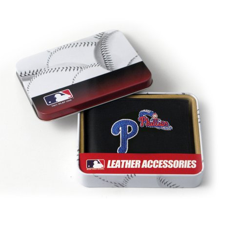 MLB Philadelphia Phillies Embroidered Genuine Cowhide Leather Billfold Wallet