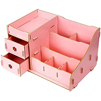 782df9e8ea7b B-MyDreams Fashion Colorful Wooden Storage Box, Double Drawer DIY ...