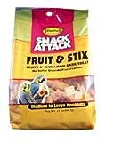 Higgins Snack Attack Premium Natural Bird Treats Fruit and Stix 12 oz, My Pet Supplies