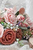 Floroom Artificial Flowers 50pcs Real Looking Dusty