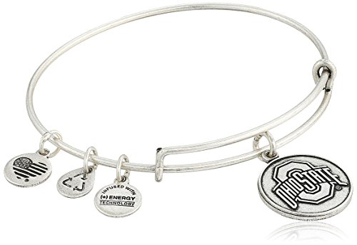(Alex and Ani Ohio State University Logo Expandable Rafaelian Silver Bangle Bracelet)