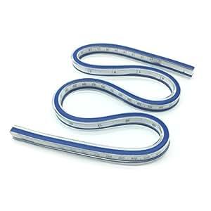 YEHAM 24 Inch (60cm) Flexible Curve Ruler Flexible Design Ruler