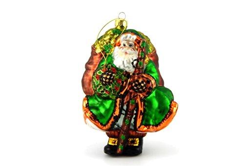 (Peggy Abrams Celtic Santa Glass Christmas)