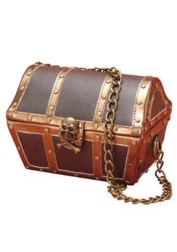 Forum Novelties Women's Novelty Pirate Chest Handbag, Brown, One Size