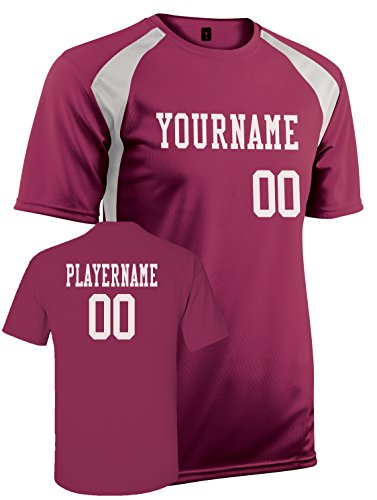 Adult Mesh Full Button Jersey (Adult Custom Jersey, Personalize with YOUR Names, Numbers and Colors (M))