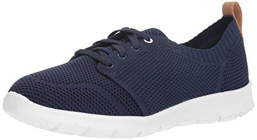 CLARKS Women's Step AllenaSun Sneaker Navy Textile 080 W US