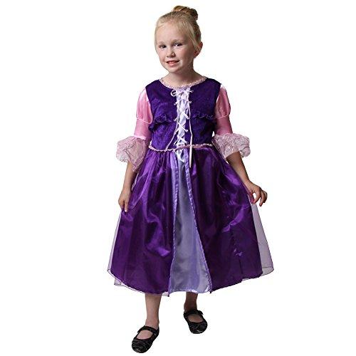[Purple Princess Short Rapunzel Costume, Size 2/4] (Back To School Theme Party Costumes)