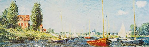 Claude Monet Poster Photo Wallpaper - Red Boats At Argenteuil, 1875, 1 Part (98 x 31 - Lake Tree Monet Claude