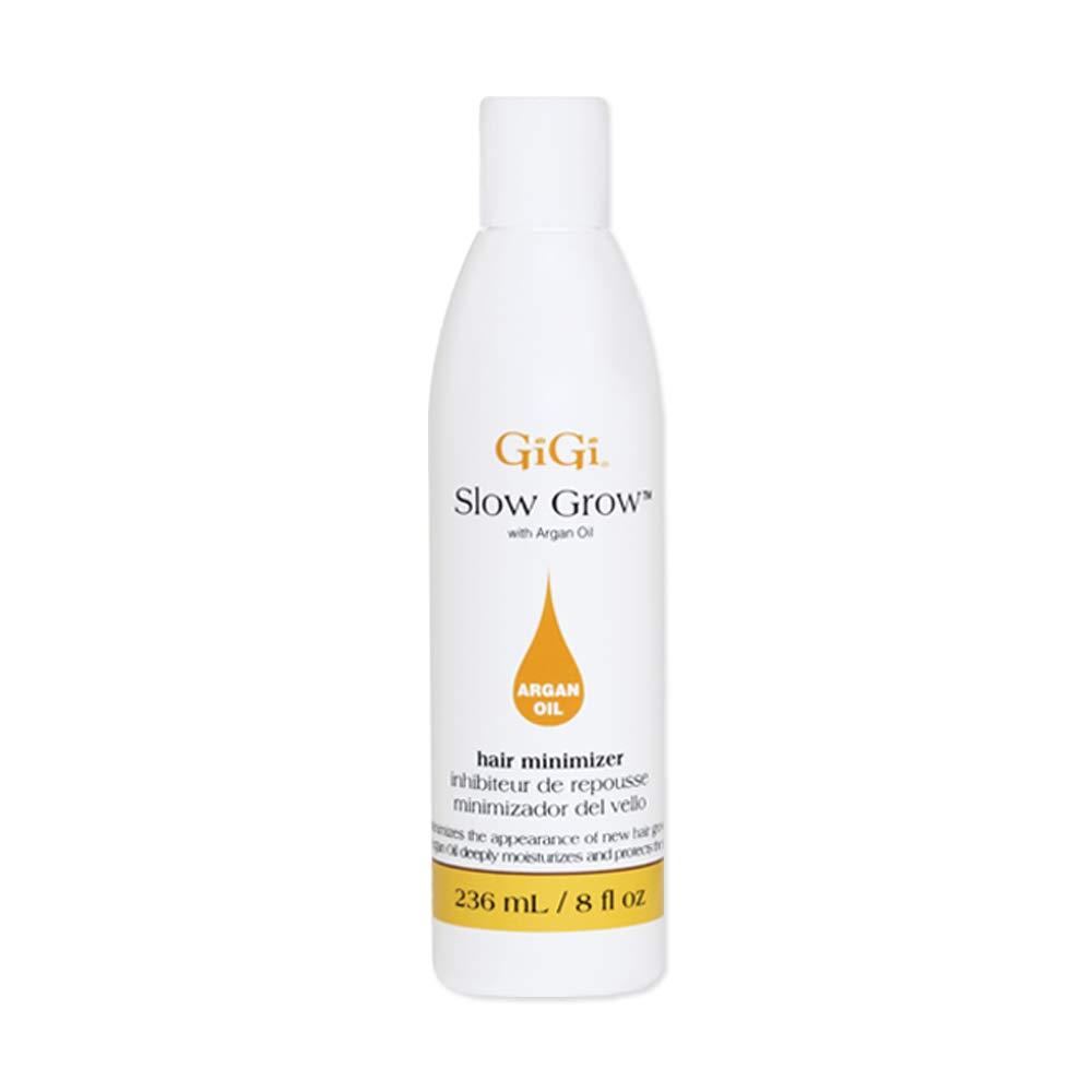 GiGi Slow Grow Hair Inhibitor Lotion with Argan Oil - Hair Regrowth Minimizer, 8 oz