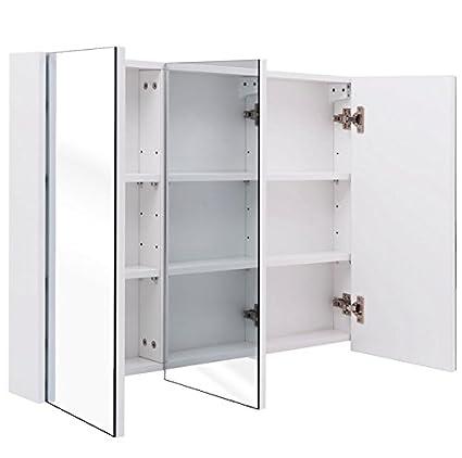 Amazon Com Hpw 36 Wide 3 Mirror Wall Mounted Bathroom Mirrored