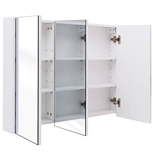 Wall Mounted Bathroom Mirrored Cabinet 36
