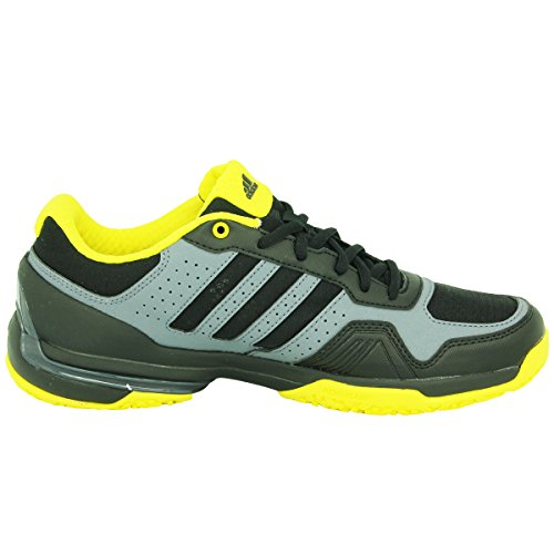 adidas Performance Rally Court OC – Zapatillas de tenis hombre negro amarillo gris Torsion System Adidas Performance