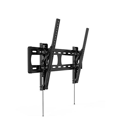 Ángulo de inclinación de 48-70 pulgadas Soporte de TV ajustable, Material de acero laminado en negro Soporte de TV montado...