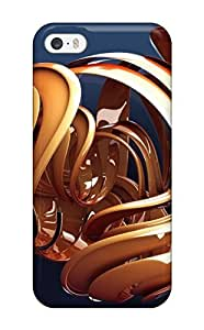 Special Design Back 3d Orange Shape Phone Case Cover For Iphone 5/5s Sending Screen Protector in Free