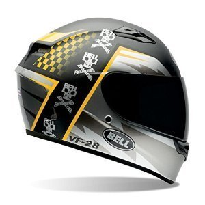 Bell AirTrix Battle Adult Qualifier On-Road Racing Motorcycle Helmet - Black/Yellow - Medium by Bell