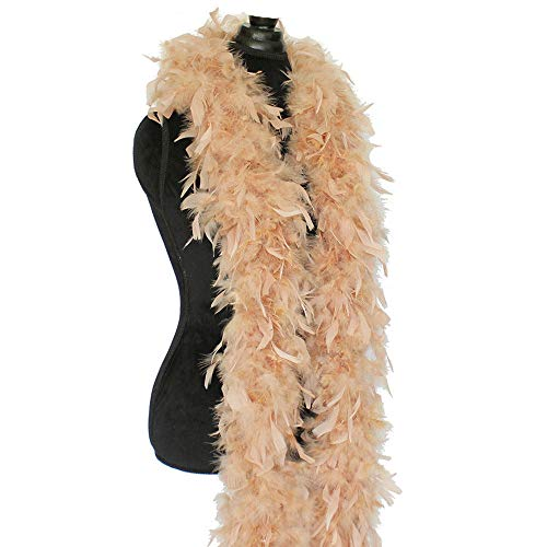 Cynthia's Feathers 80g Chandelle Feather Boas Over 30 Color & Patterns (Camel) (Chandelle Boa)