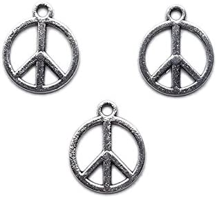 50Pcs siver//bronze métal LOVE//PEACE Ovale Charms Spacer Beads Jewelry Findings