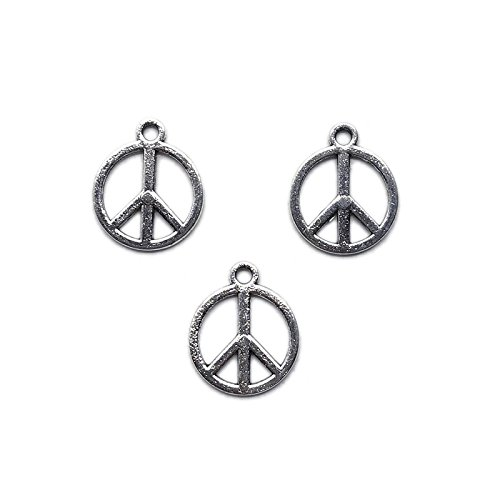 - 20pcs Tibetan Silver Peace Logo Charms 16mm ~Jewelry Findings