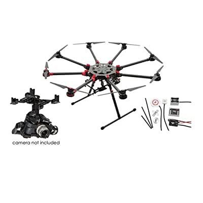 DJI Spreading Wings S1000+ Professional Octocopter with Zenmuse Z15-GH4 HD 3-Axis Gimbal and WooKong-M Flight Control System, Transmitter Not Included