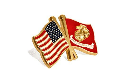USA USMC Flags Lapel Pin