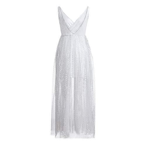 LOMONER 1920 Dresses for Women Sexy V Neck Sleeveless Vest S