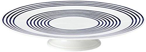 kate spade new york Charlotte Street Cake Plate, White/Blue