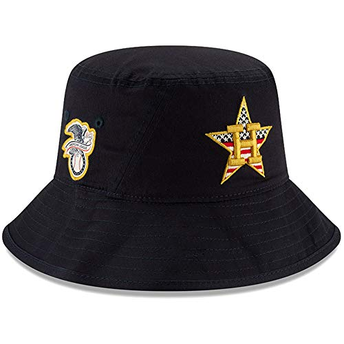(New Era Houston Astros 2019 Stars & Stripes 4th of July Bucket Cap Hat One Size Fits Most)