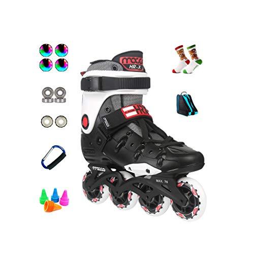 娘追跡引用ailj インラインスケート、アダルト単列スケートローラースケートプロのメンズレディーススケートフルセット(3色) (容量 : EU 40/US 7.5/UK 6.5/JP 25cm, 色 : イエロー いえろ゜)