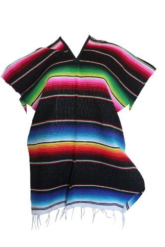 Del Mex Youth Child Mexican Serape Poncho Costume