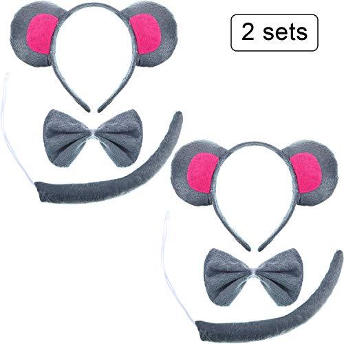 SATINIOR 2 Sets Kids Animal Costume Ears Headband