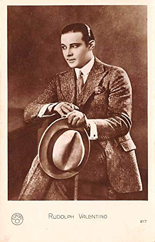 Rudolph Valentino Movie Star Actor Actress Film Star Postcard, Old Vintage Antique Post Card Writing on back