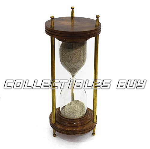 Nautical Wooden Sand Timer Brass Decorative Home Décor Unique Gifts Collection