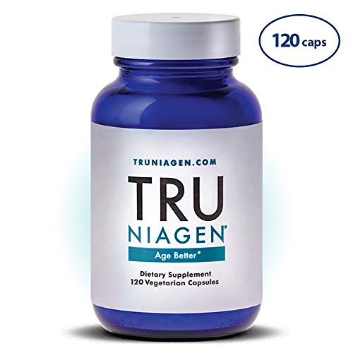 TRU NIAGEN - 60 Day - Vitamin B3 | Advanced NAD+ Booster | Nicotinamide Riboside NR | Increases Energy & Promotes Anti Aging - 250mg per Serving (120 capsules/125mg)